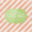 Christmas vector greeting card. — Stock Vector