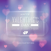 Vector vintage soft blurry pale purple valentine's day greeting card — Stock Vector