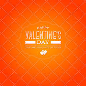 Vector vintage style valentine's day greeting card — Vecteur