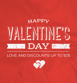 Vector retro weathered valentine's day poster — Stockvektor