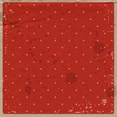 Vektorové staré červené používají špinavé řemesla papír vinobraní pozadí s tečkovaným vzorem — Stock vektor
