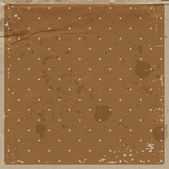 Vector old brown used dirty craft paper vintage background with dotted pattern — Stockvektor