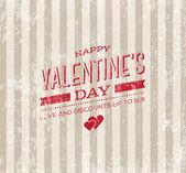 Valentine's day vector retro greeting card. — Stock Vector