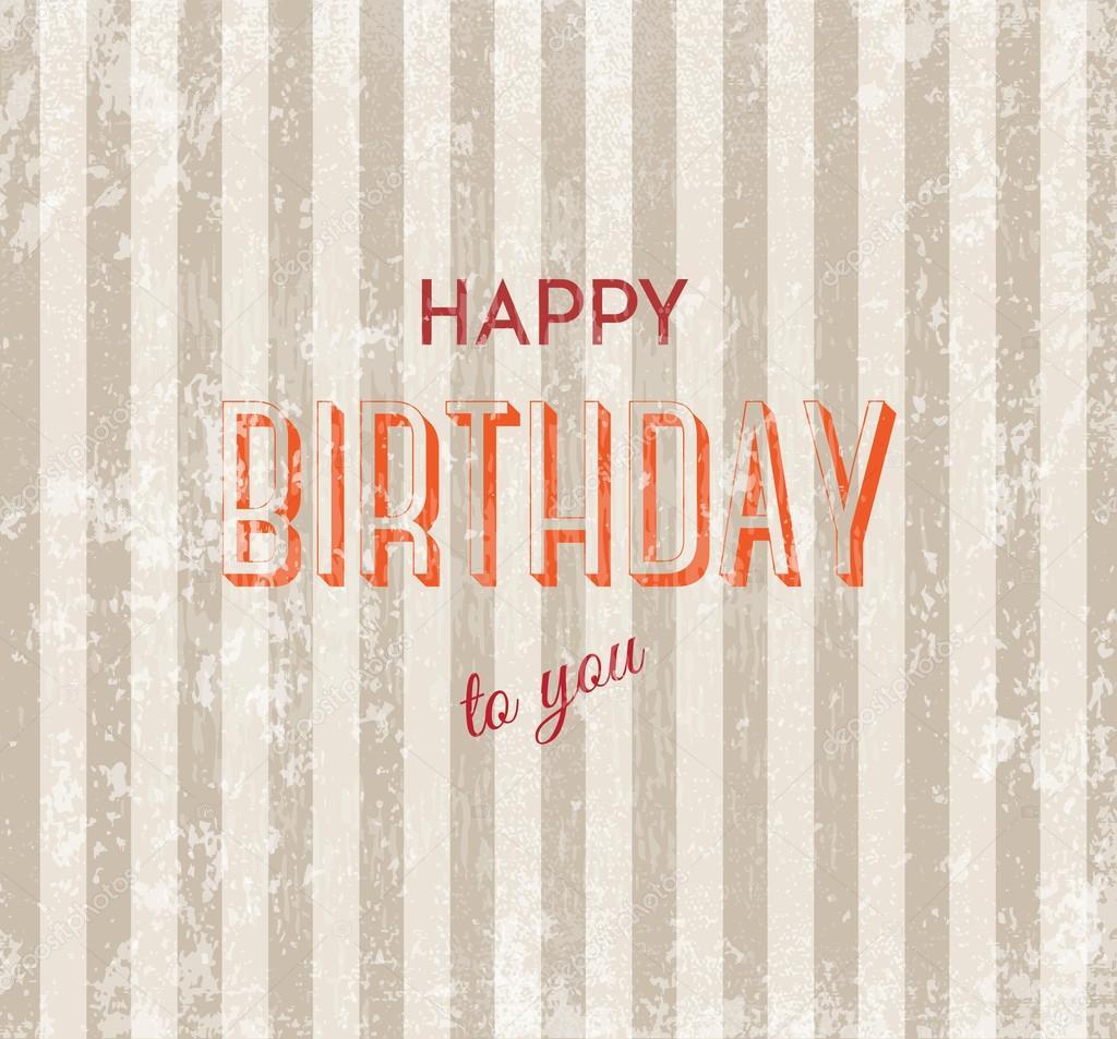 Happy Birthday Retro Images Happy Birthday Vector Retro