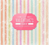 Vector retro valentine's day greeting card design. — Stock Vector