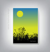Vector brochure cover design template with nature background — ストックベクタ
