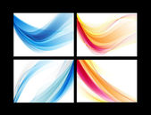 Blue and orange smooth vector backgrounds set — Stock Vector