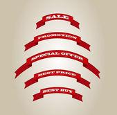 Красный вектор ленты Теги коллекция — Cтоковый вектор