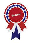 Thailand Vektor detaillierte Stoff nicht glatt Multifunktionsleiste rosette — Stockvektor