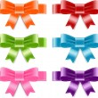 Vector satin ribbon bow knots collection — Vettoriali Stock