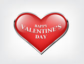 Vector valentine's day banner - glossy heart — Stockvektor