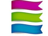 Colorful ribbon tags — Stock Vector