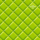 Vector green vinyl upholstery padded glossy background — Stock Vector