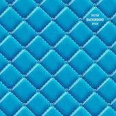 Vector blue vinyl upholstery padded glossy background — Stock Vector