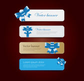 Vintage vector banners collection — Stock Vector