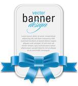 Vector vintage style white retro banner — Vetorial Stock