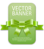 Vector vintage style green retro banner — Stock Vector