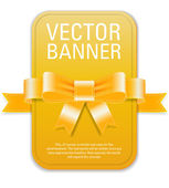 Vector vintage style yellow retro banner — Vector de stock