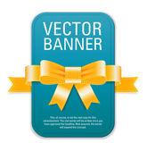 Vector vintage style turquoise blue retro banner — Stockvektor