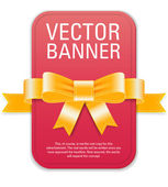Vector vintage style red retro banner — Vecteur