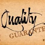 Vector handwritten calligraphy Quality — Stock Vector #36022813