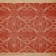 Vector vintage worn out paper card with worn out ornamental print — ストックベクタ
