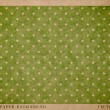 Vector vintage worn out paper card with worn out green dotted geometric print — Stockvector  #36023909
