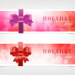 Two vector banners - stickers with bright colorful backgrounds — Imagen vectorial