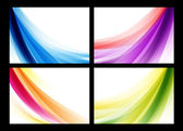 Colorful smooth vector backgrounds set — Stock Vector