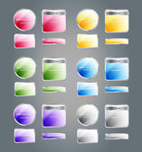 Set of glossy colorful assorted vector badges and buttons — Stock Vector