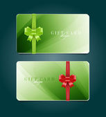 Vector gift card templates with soft abstract backgrounds — Stock Vector