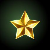 Vector shiny bronze star — Stock Vector