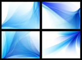 Blue smooth vector backgrounds set — Stock Vector