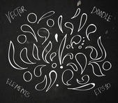 Vector hand drawn sketchy doodle elements — Stockvektor