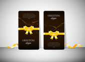 Two vector greeting cards with modern colorful dark glowing background — Vecteur
