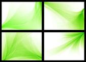Conjunto de fondos vector verde liso — Vector de stock