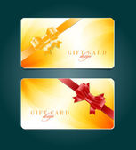 Vector gift card templates with soft abstract backgrounds — Vector de stock