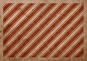 Vintage vector agotado tarjeta de papel con estampado geométrico rayas rojo agotado — Stockvector
