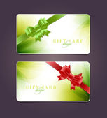 Vector gift card templates with soft abstract backgrounds — Wektor stockowy