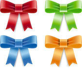 Vector satin ribbon bow knots collection — Vector de stock