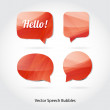 Vector 3d speech bubbles collection — Stock Vector