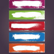 A set of vector hand painted banner backgrounds — Stock Vector #36627177