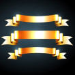 Vector shiny golden ribbons collection — Stock Vector
