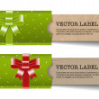 Vintage vector paper cardboard textured banners collection — 图库矢量图片