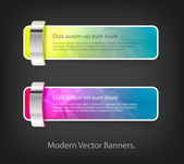 A set of modern vector banners with polygonal background — Stok Vektör