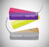 A set of vector glossy paper banners - tags — Stockvector