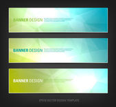 A set of modern vector banners with polygonal background — Vettoriale Stock