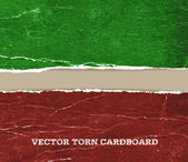 Vector vintage distressed crumpled torn cardboard background — Stock Vector