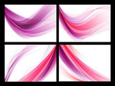 Bright purple vector abstract smooth backgrounds set — Stock Vector
