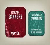 Vector vindima angustiado banners cartão amassadas — Vetorial Stock